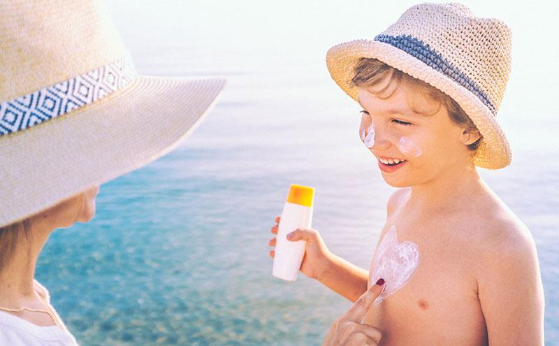 protetor solar labial para crianças